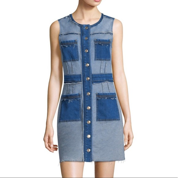 7 For All Mankind Dresses & Skirts - 7 for all mankind patchwork denim dress